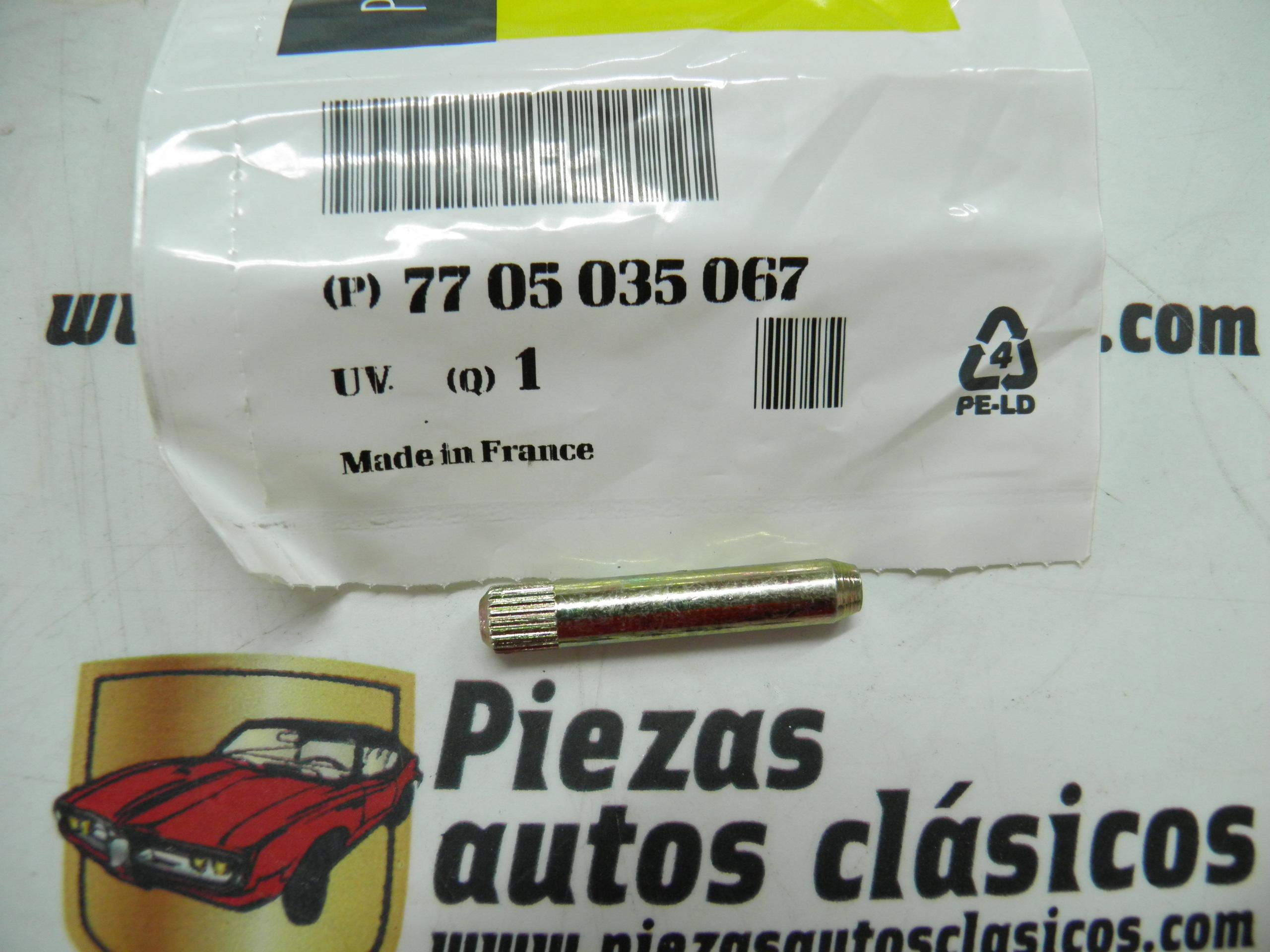 Eje bisagra portón Renault 4