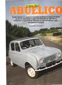Nuestro R4 Base 1962 en la 4L Magazine